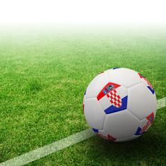 Croatia flag on 3d football