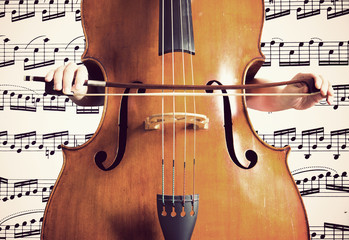 Spartito musicale, contrabbasso