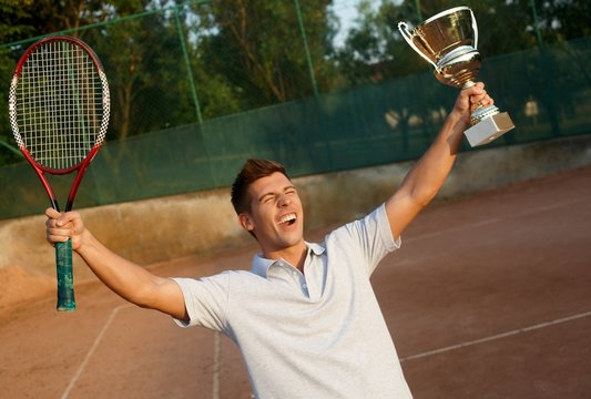 Flush of victory on tennis court
