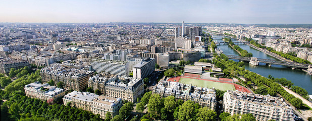 panorama of paris france
