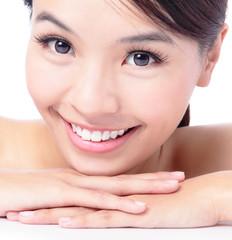 portrait of attractive woman smile