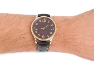 Watch hand isolated