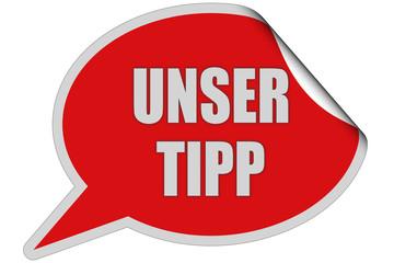 SP-Sticker rot curl oben UNSER TIPP