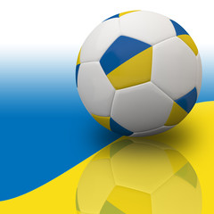 Ukraine flag on 3d Football