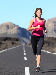 Jogging woman running