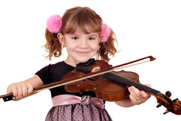 Wall Mural - beautiful girl with violin portrait