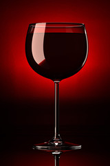 Wineglass with red wine in it. Photorealistic 3D render