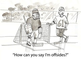 Papiers peints Comics Offsides hockey