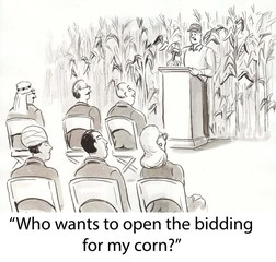 Papiers peints Comics Bidding on corn