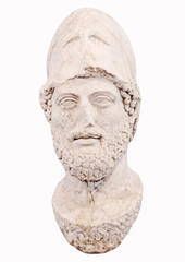 Bust of the greek statesman Pericles of Athens Greece