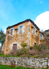 Old abandoned house in a Greek village