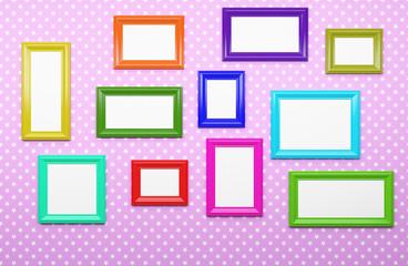 multicolor picture frames