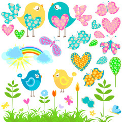 Door stickers Rainbow love birds