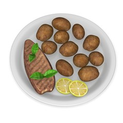 3d render of artificial food