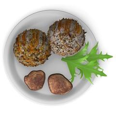 3d render of artificial food