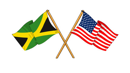America and Jamaica alliance and friendship