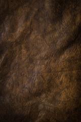 Dark Brown Puckered Leather