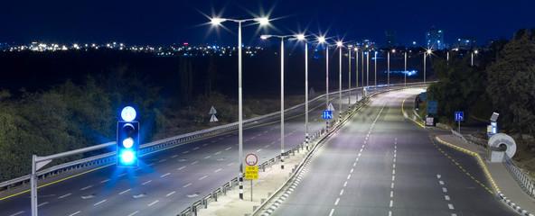 Empty highway Fotomurales