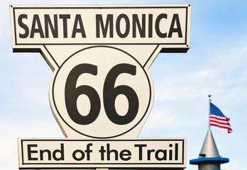 Route 66 Santa Monika Kalifornien