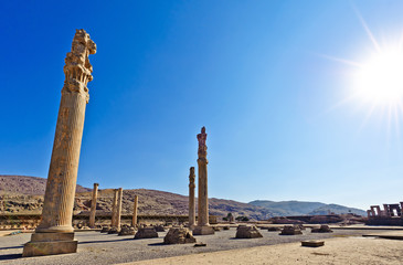 Persepolis in Fars Province, Shiraz, Iran