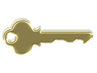 Golden modern key