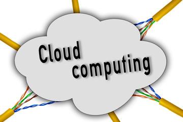 Computerdaten in der Wolke Netzwerk