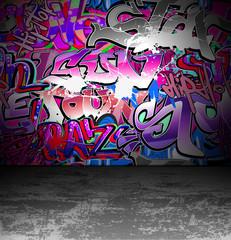 In de dag Graffiti Graffiti wall urban street art painting