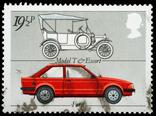 Motor Car Postage Stamp