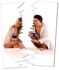 Gerissenes Bild nach Scheidung oder Trennung