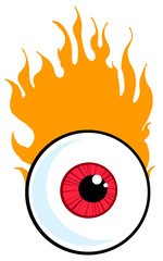 Red Eyeball In Flames