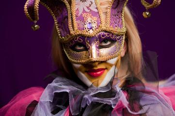 woman in venetian mask