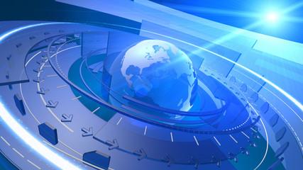 World Globe Digital Network Connection Background