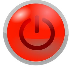 button power red