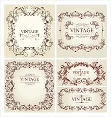 Vintage frame - set