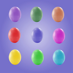 Easter eggs of different color