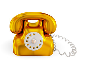Golden rentro telephone.