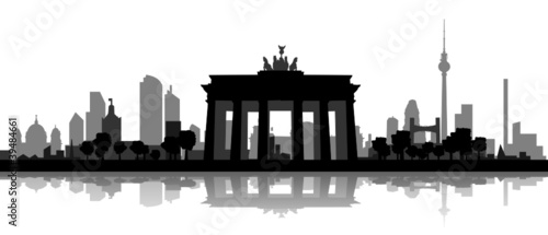 berliner skyline mit brandenburger tor stockfotos und lizenzfreie vektoren auf. Black Bedroom Furniture Sets. Home Design Ideas