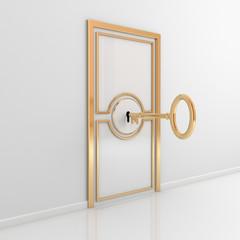 Abstract door