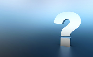Obraz Die große Frage Silber Blau - fototapety do salonu