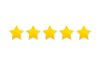 évaluation - note - cinq étoiles