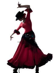 Poster Art Studio woman gipsy flamenco dancing dancer