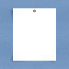 Blank note paper on board background