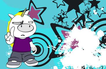 unicorn kid cartoon background3