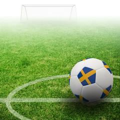 Sweden flag on 3d football