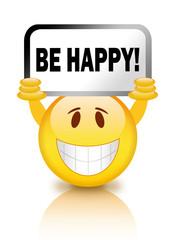 Be happy smiley illustration
