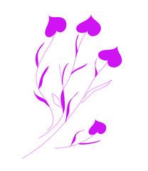 Orchid is tender violet