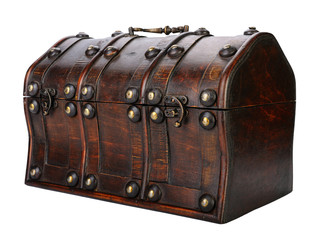 Wooden chest.