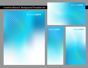 Cool Blue Background Template Set