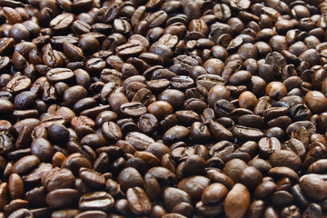background of coffee grains