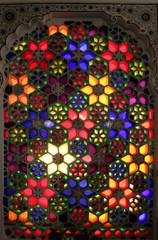 Foto op Plexiglas Stained vitrail rajahstan inde